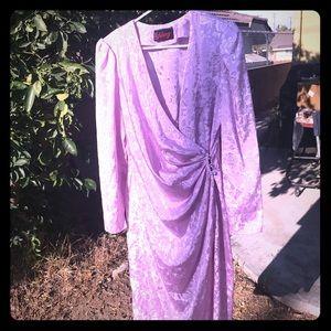 Dresses & Skirts - 80's Vintage Wrap Dress in Lilac Floral